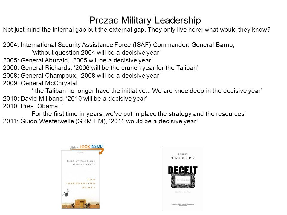 Prozac Military Leadership