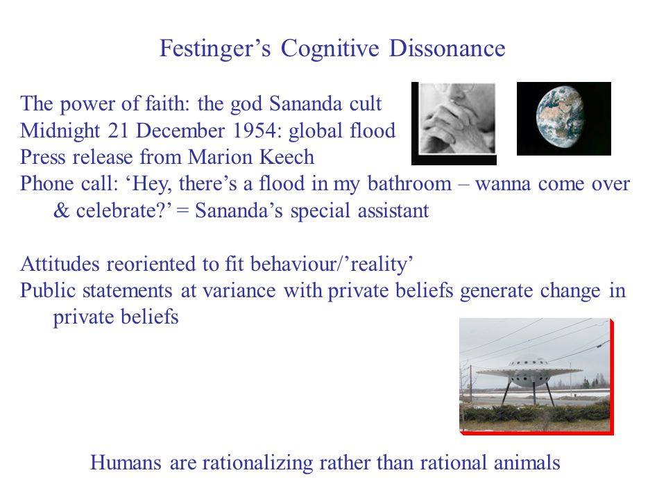 Festinger's Cognitive Dissonance