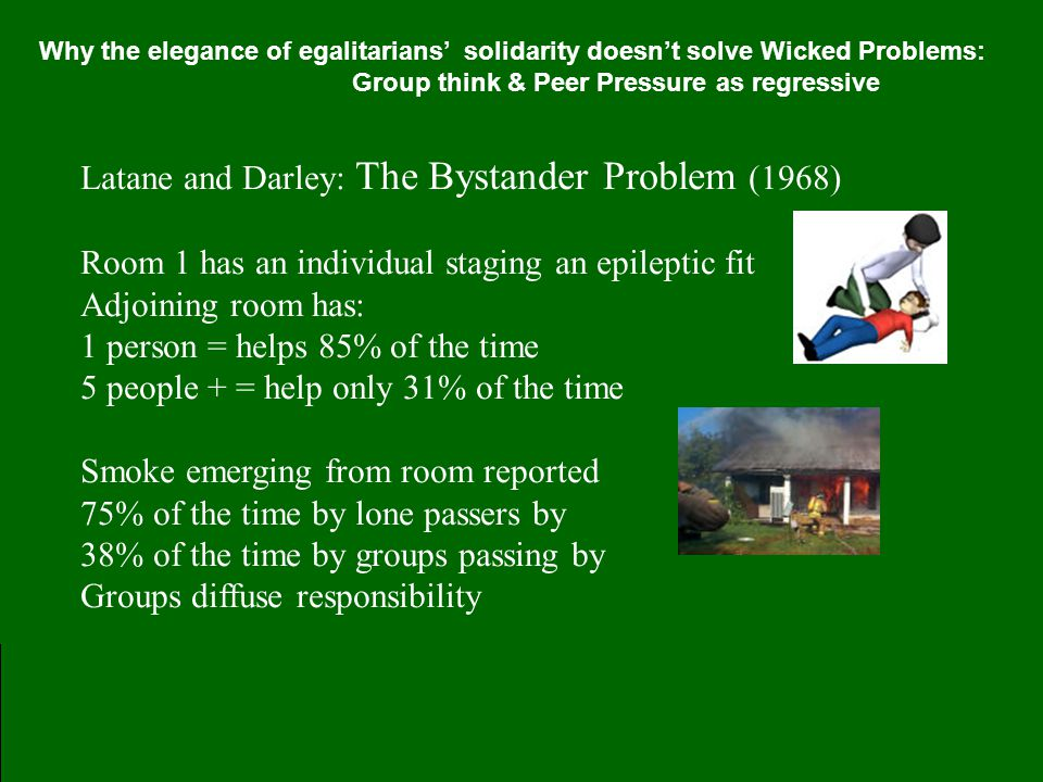 Latane and Darley: The Bystander Problem (1968)