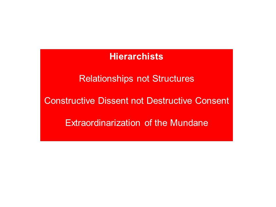 Relationships not Structures