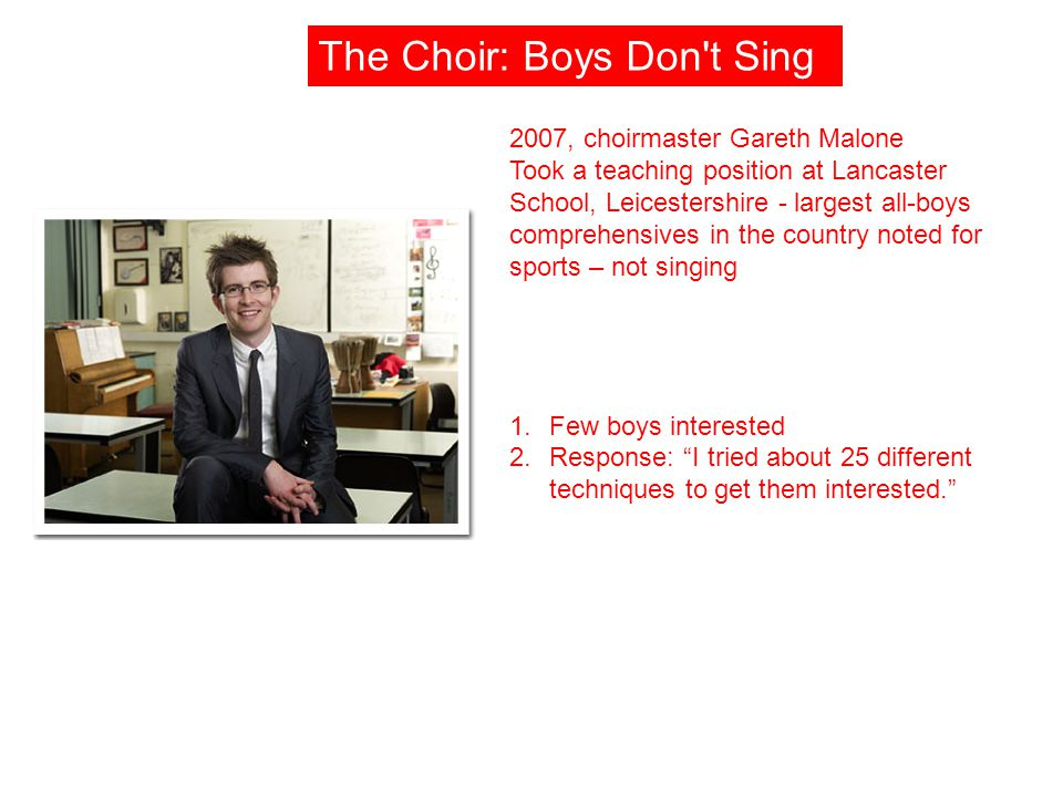 The Choir: Boys Don t Sing