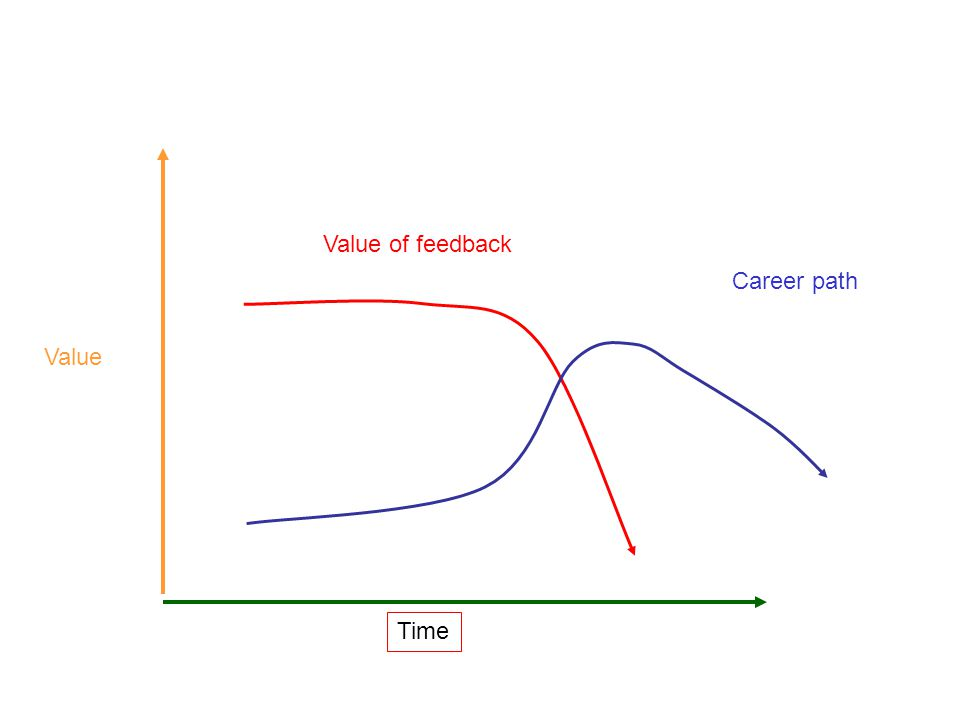 Value of feedback Career path Value Time