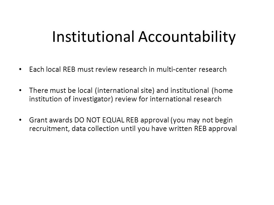 Institutional Accountability