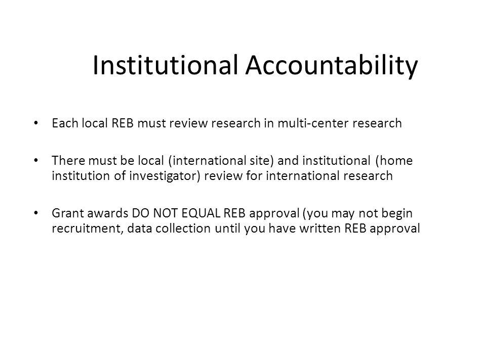 Institutional Accountability