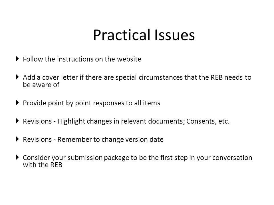 Practical Issues Follow the instructions on the website