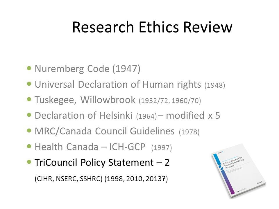 Research Ethics Review