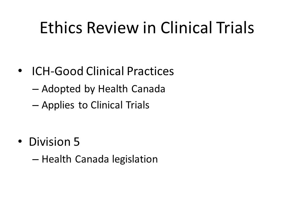 Ethics Review in Clinical Trials
