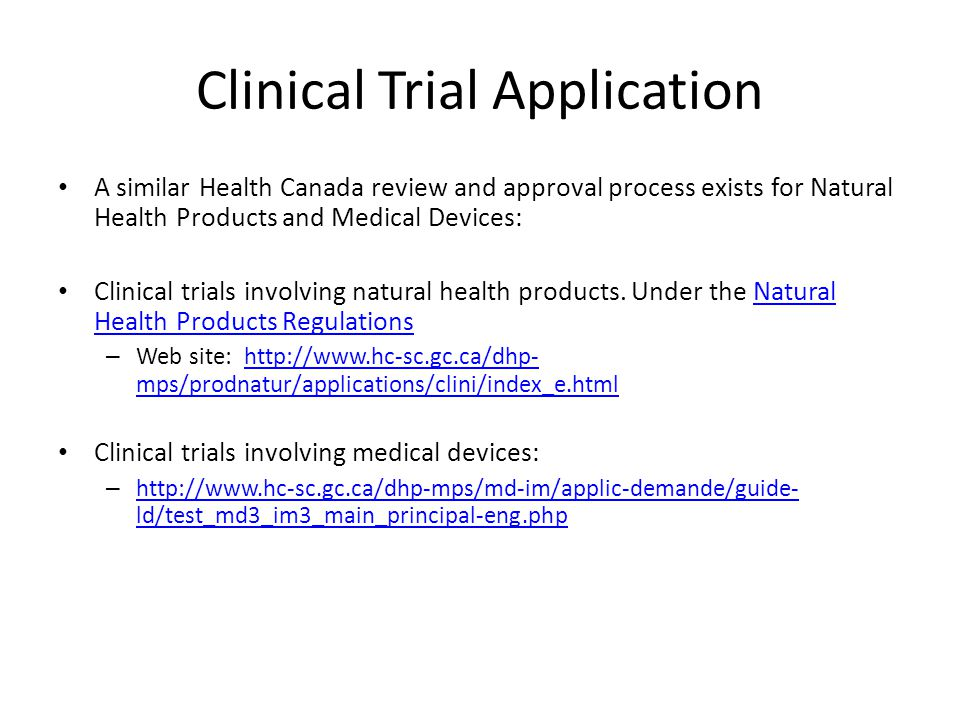 Clinical Trial Application