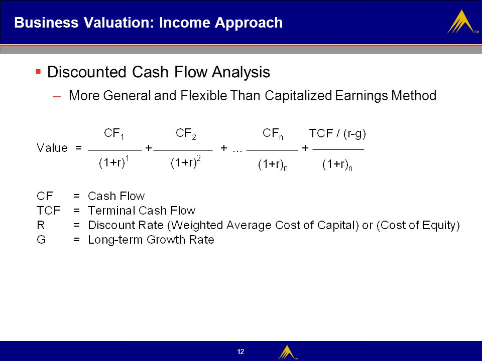 Business Valuation: Income Approach