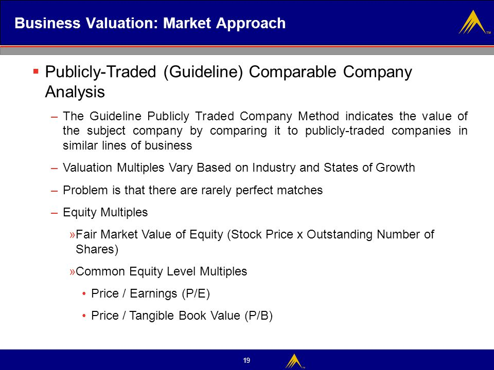 Business Valuation: Market Approach