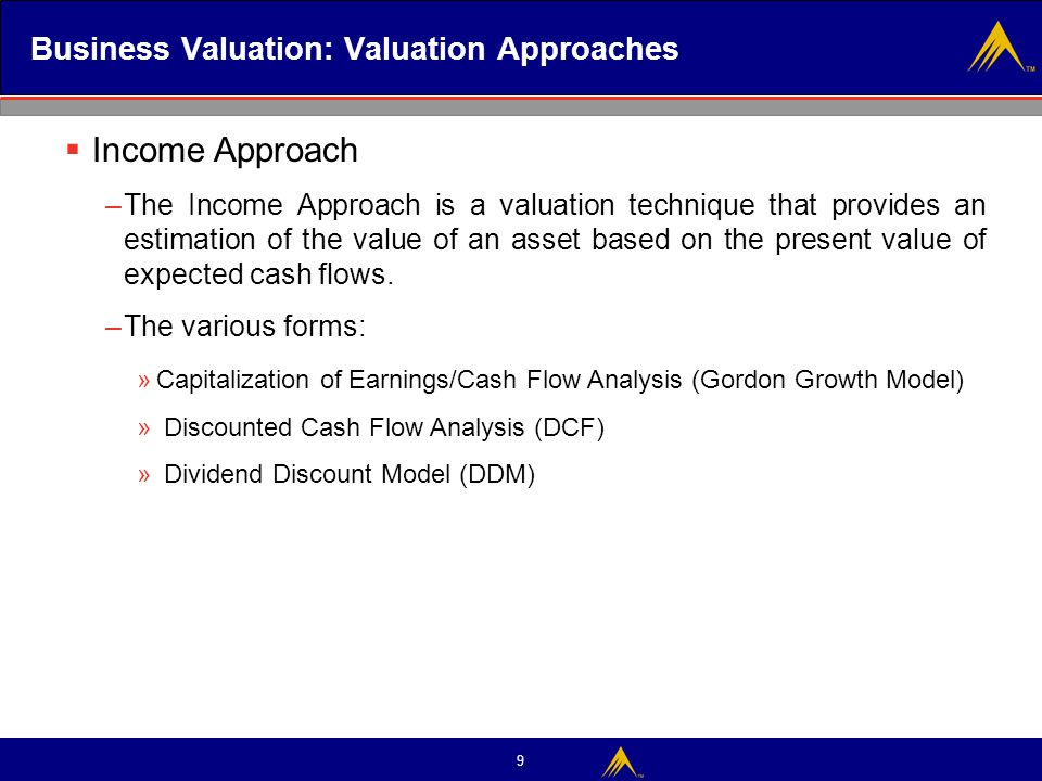 Business Valuation: Valuation Approaches
