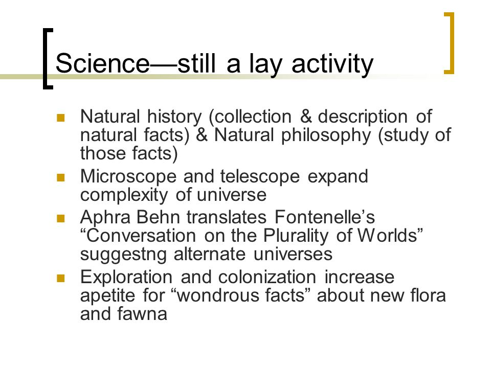 Science—still a lay activity