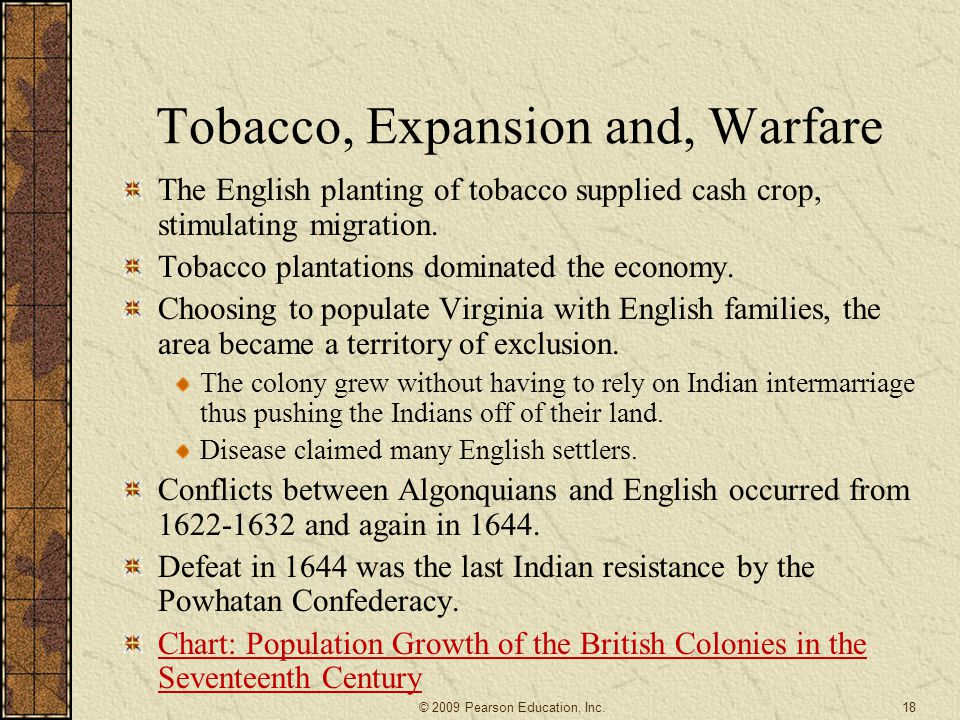Tobacco, Expansion and, Warfare