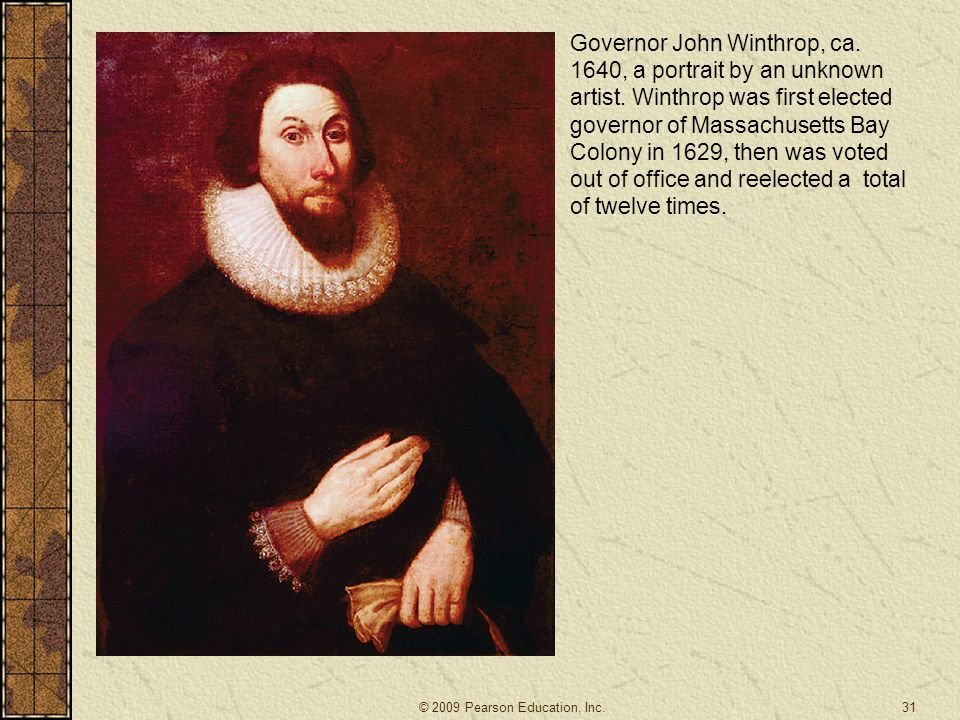 Governor John Winthrop, ca. 1640, a portrait by an unknown artist