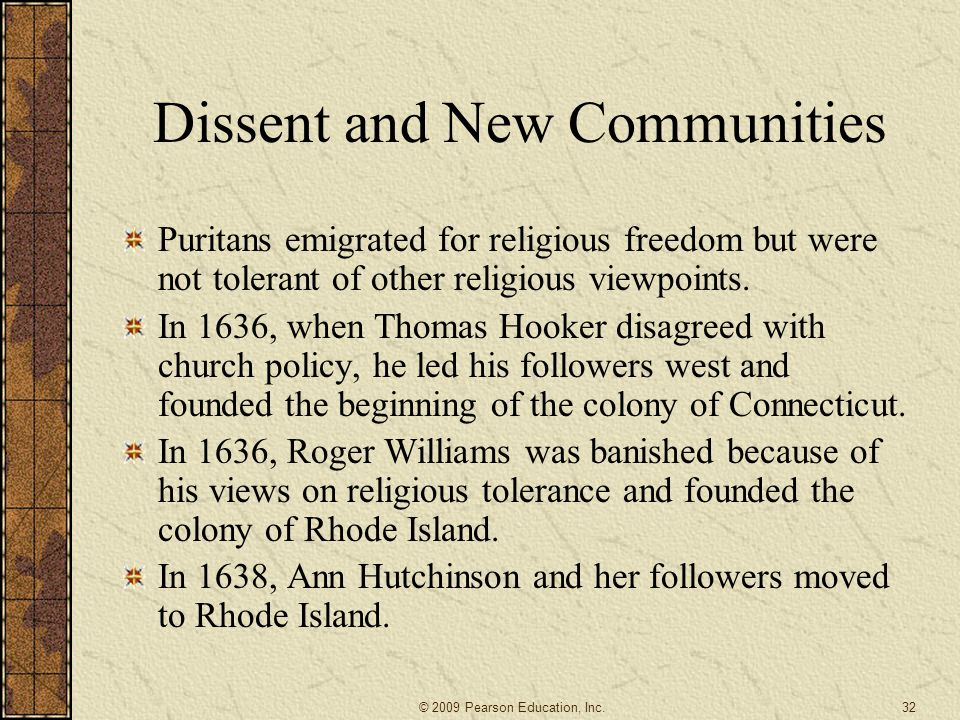 Dissent and New Communities