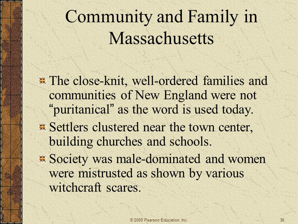 Community and Family in Massachusetts