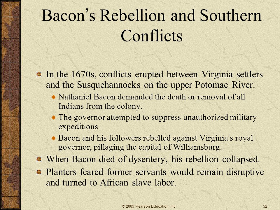 Bacon's Rebellion and Southern Conflicts