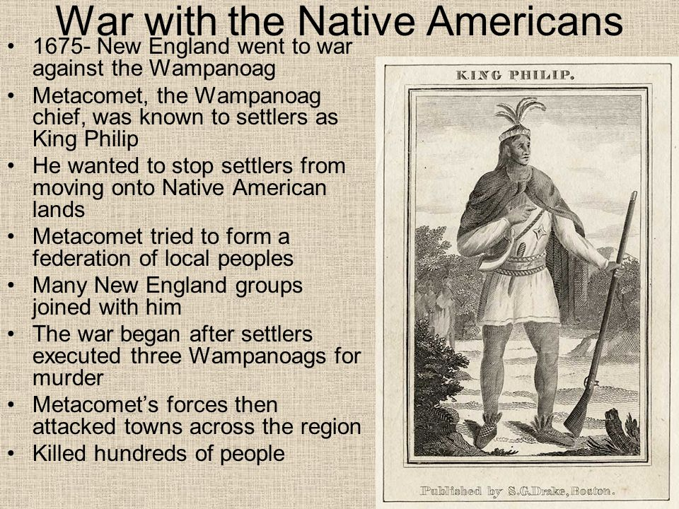 War with the Native Americans