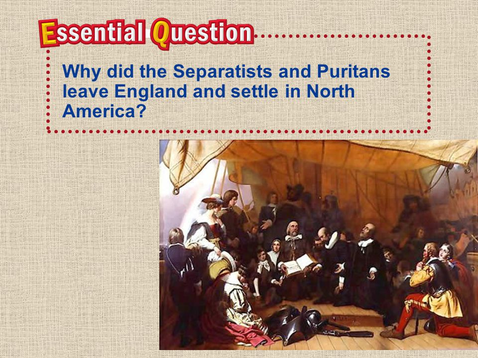 Why did the Separatists and Puritans leave England and settle in North America