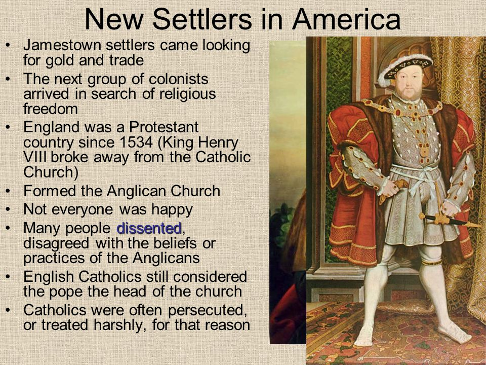 New Settlers in America