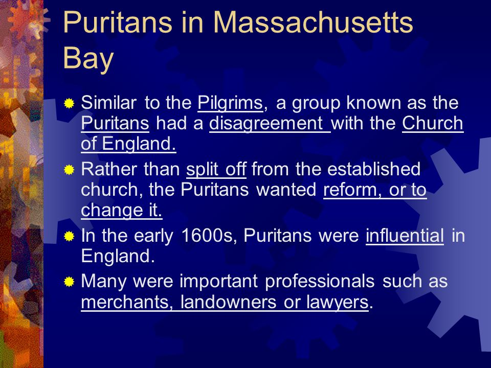 Puritans in Massachusetts Bay