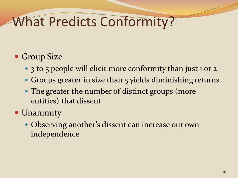 What Predicts Conformity