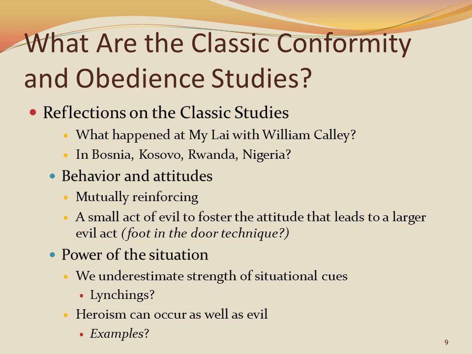 What Are the Classic Conformity and Obedience Studies