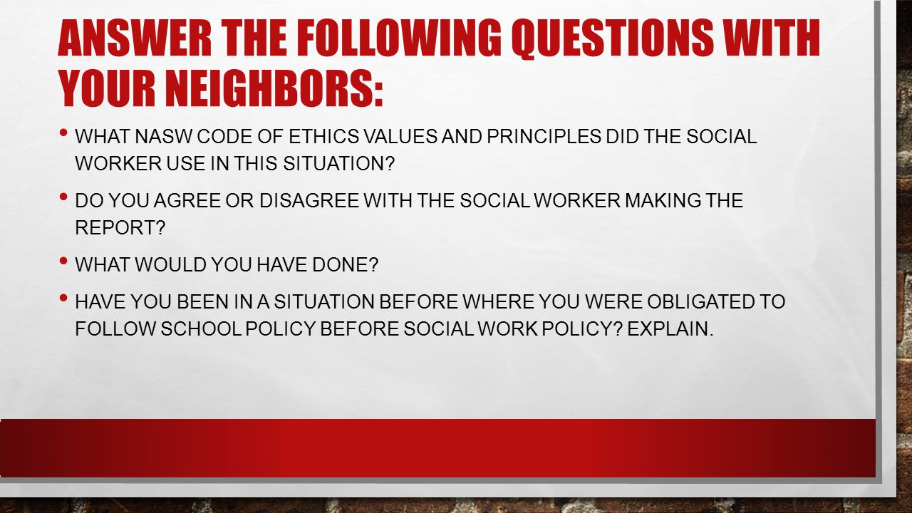 Answer the following questions with your neighbors: