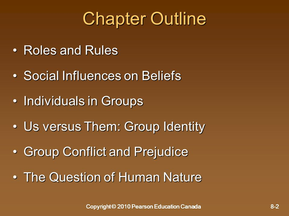 Chapter Outline Roles and Rules Social Influences on Beliefs