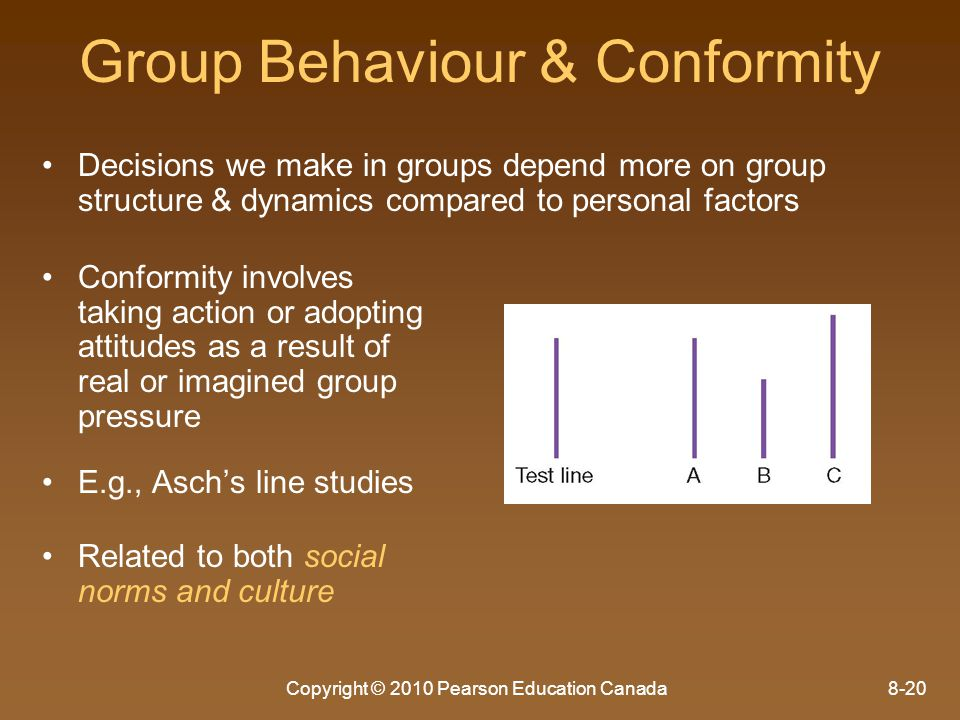 Group Behaviour & Conformity