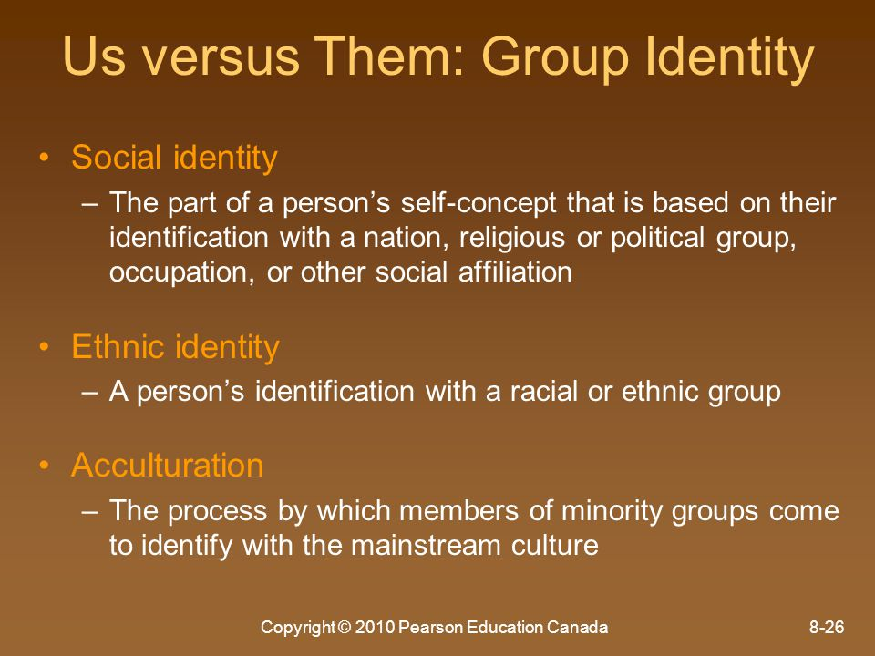 Us versus Them: Group Identity