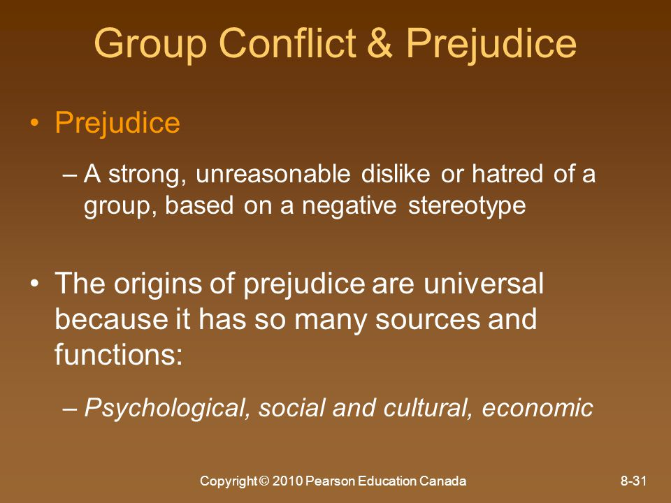 Group Conflict & Prejudice