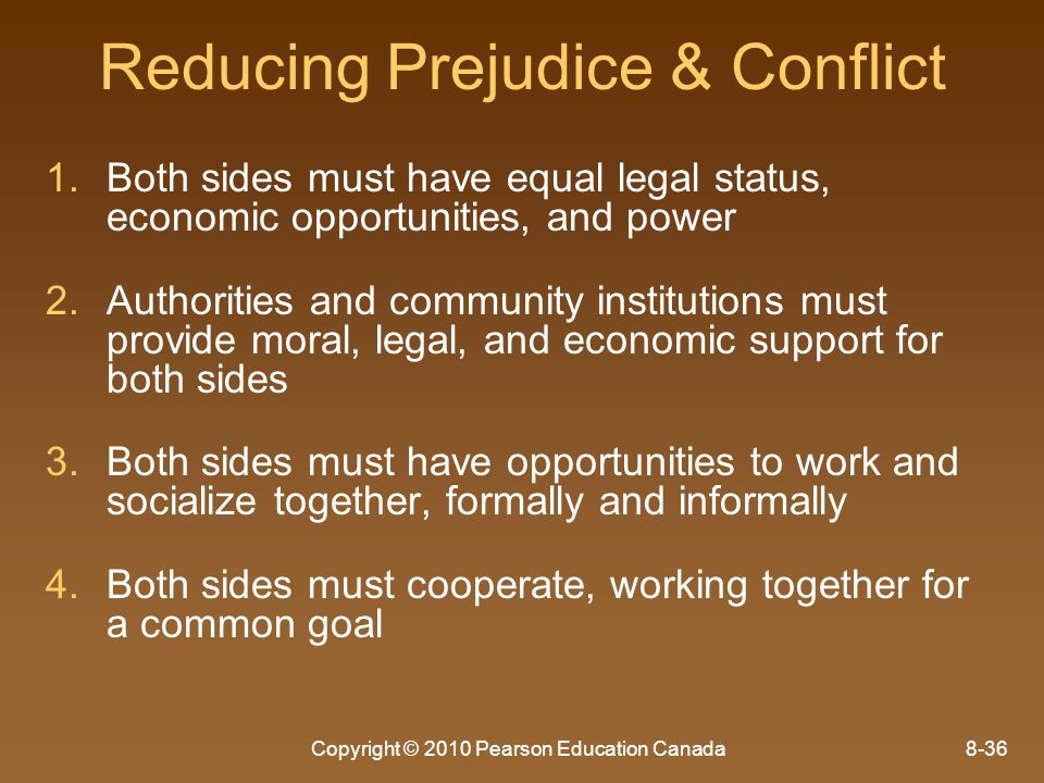 Reducing Prejudice & Conflict