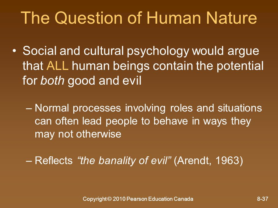 The Question of Human Nature
