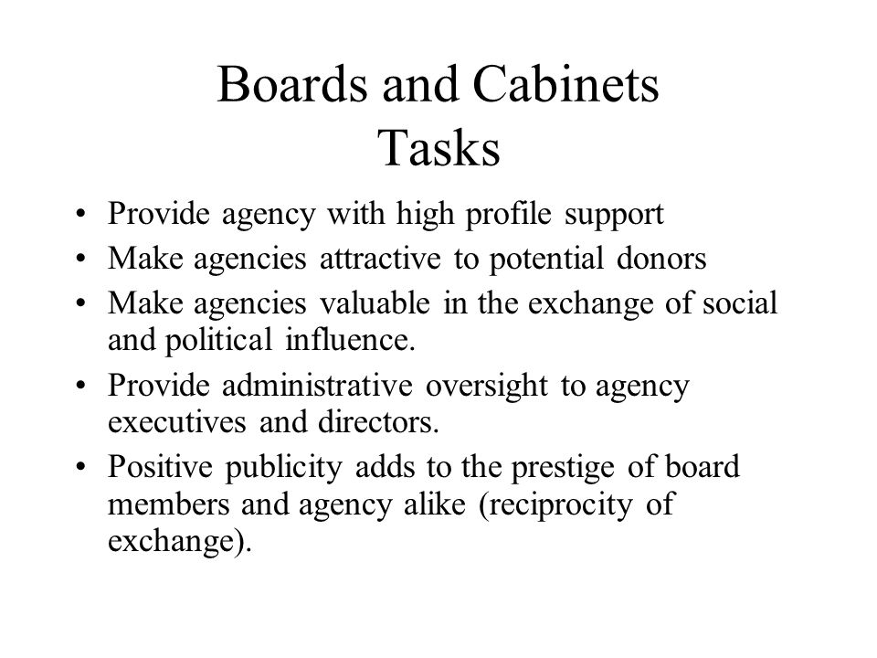 Boards and Cabinets Tasks