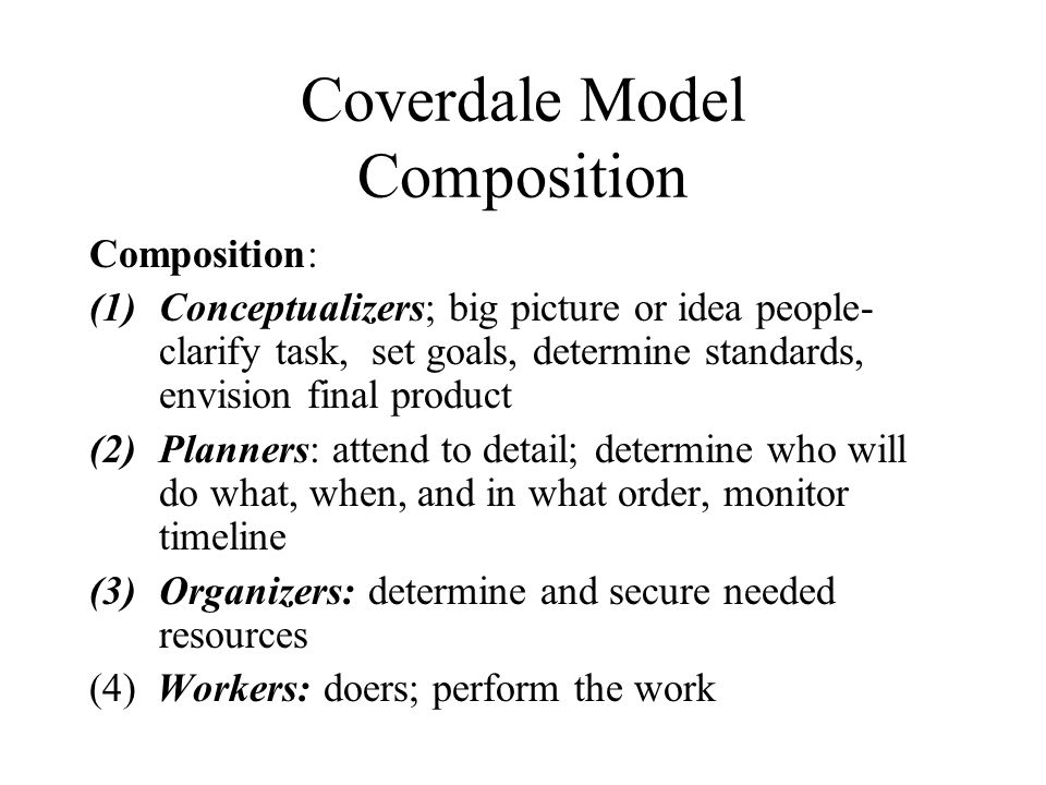 Coverdale Model Composition