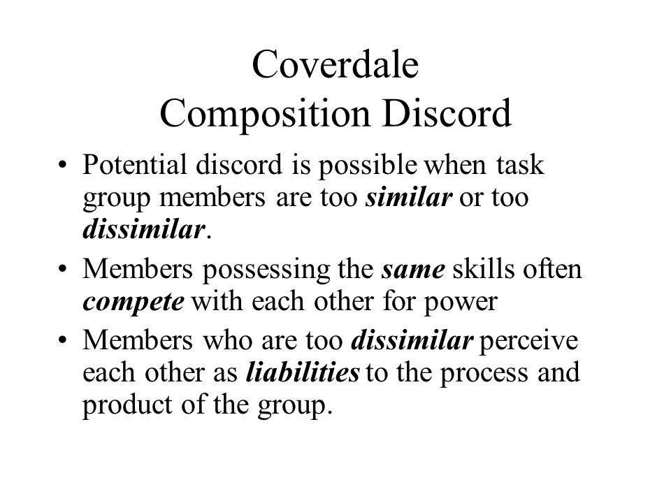 Coverdale Composition Discord