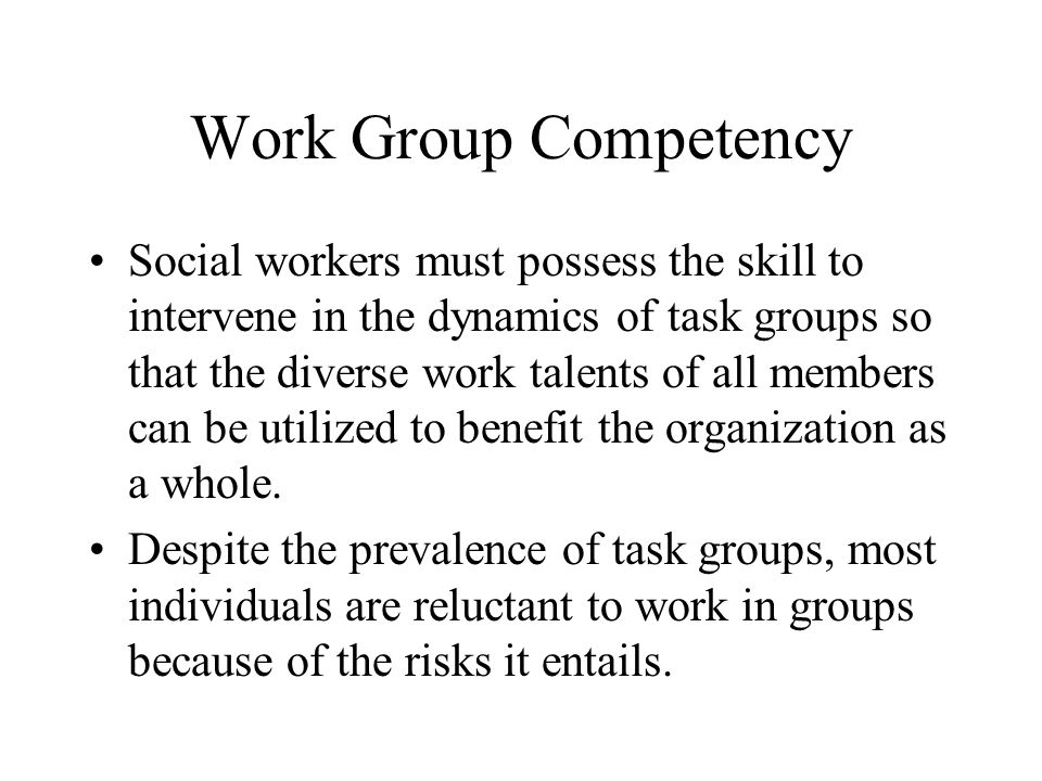 Work Group Competency
