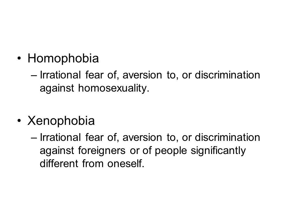 Homophobia Xenophobia