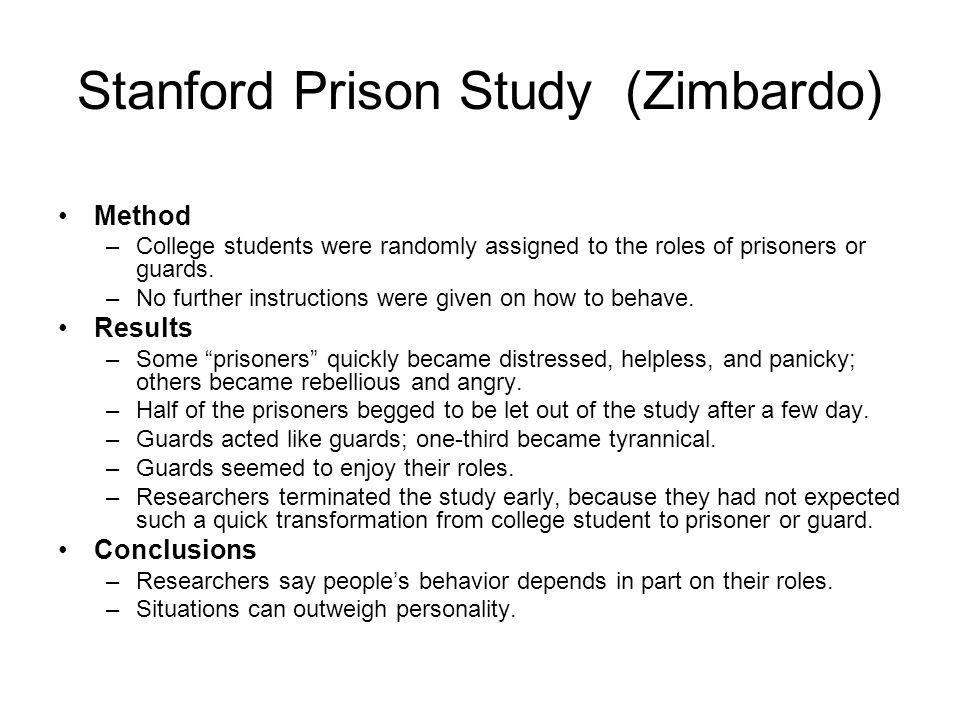 Stanford Prison Study (Zimbardo)