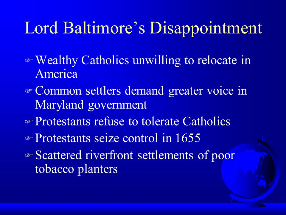 Lord Baltimore's Disappointment