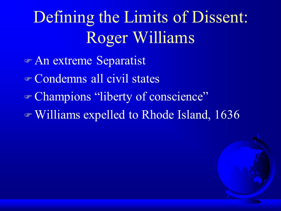 Defining the Limits of Dissent: Roger Williams