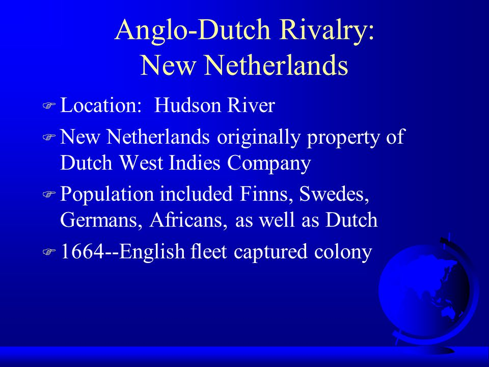 Anglo-Dutch Rivalry: New Netherlands