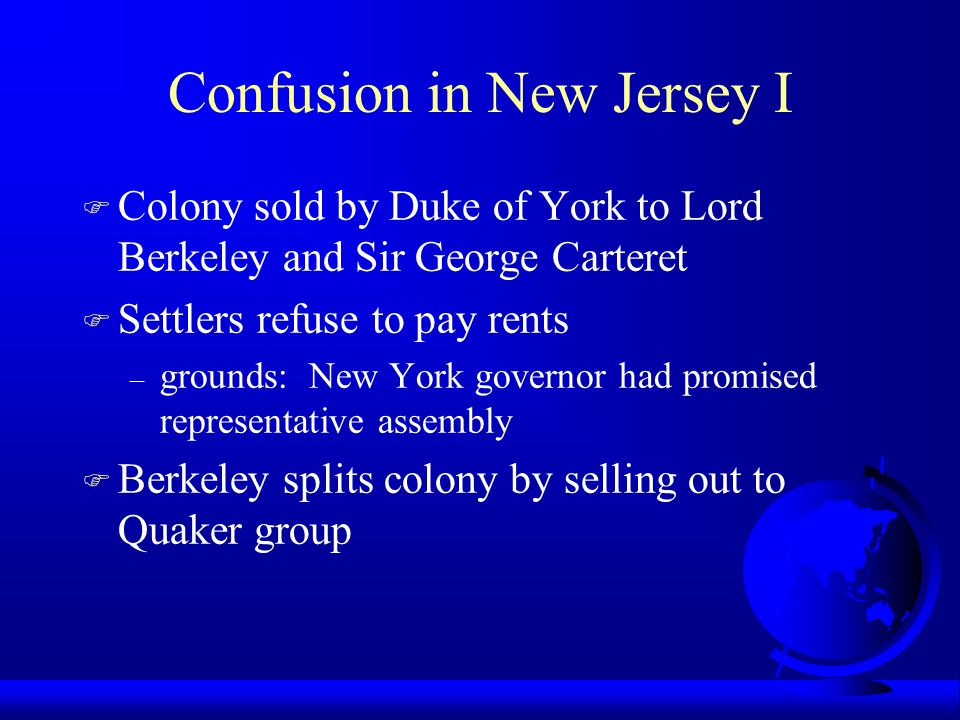 Confusion in New Jersey I