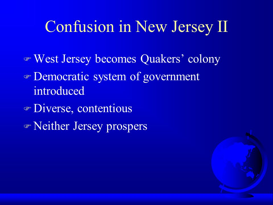 Confusion in New Jersey II