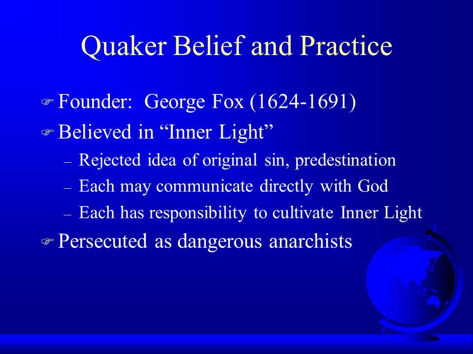 Quaker Belief and Practice