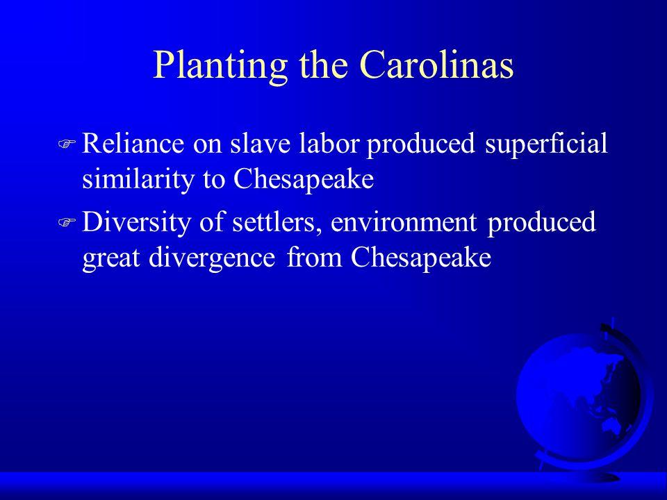 Planting the Carolinas