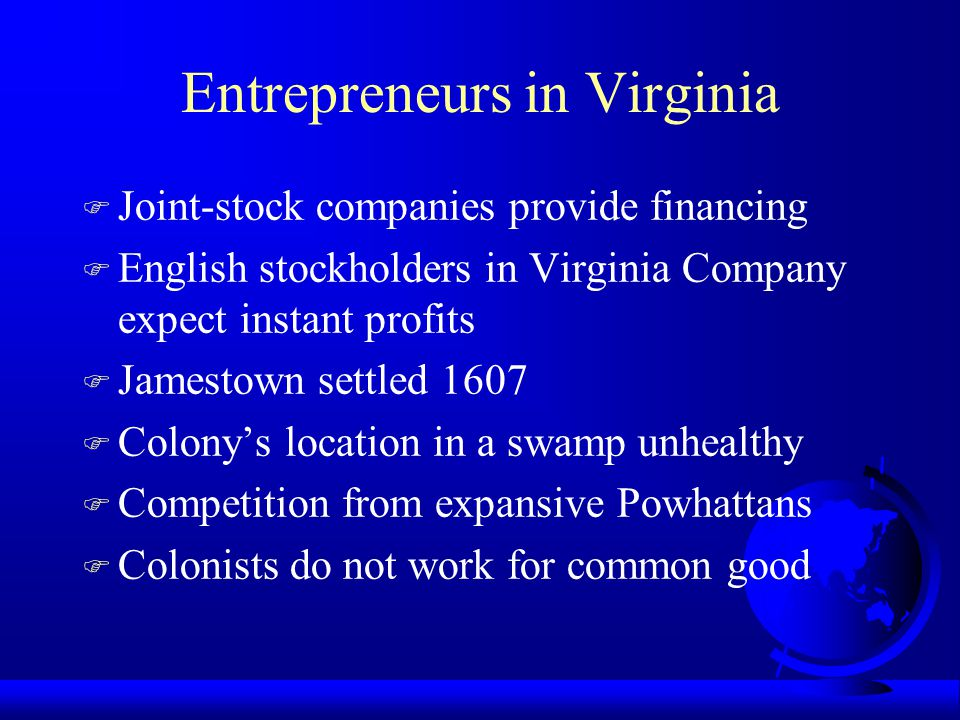 Entrepreneurs in Virginia