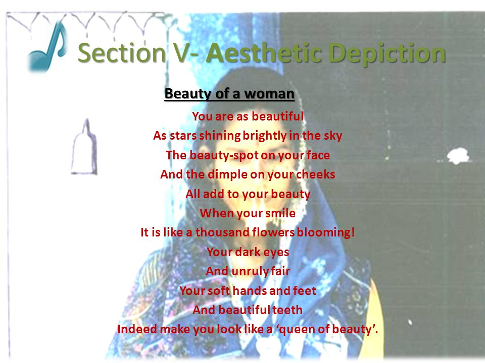 Section V- Aesthetic Depiction