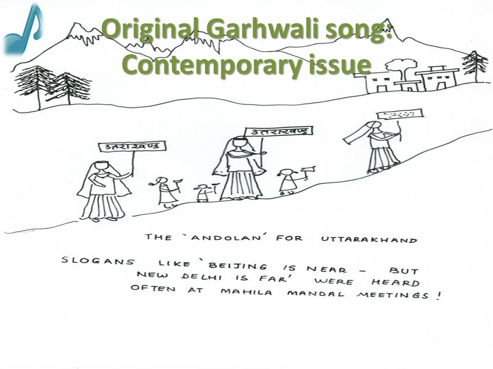 Original Garhwali song: Contemporary issue
